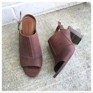 Lucky Brand Jorelie Leather Slingback Heel Sandals
